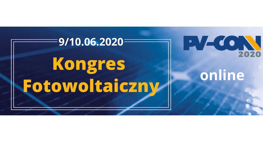 Kongres Fotowoltaiczy PVCON 2020 już 9-10 czerwca online