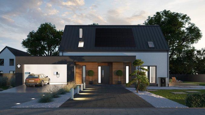Alternatywne systemy grzewcze. Dom z instalacją PV i pompą ciepła.