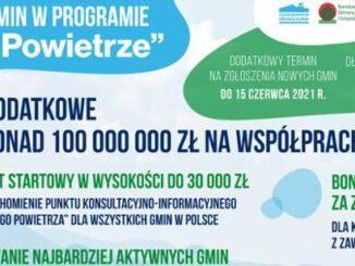 """Dodatkowe terminy dla gmin zainteresowanych zachętami w programie """"Czyste Powietrze"""""""