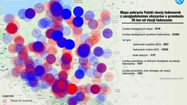 183 powiaty bez ogólnodostępnego punktu ładowania