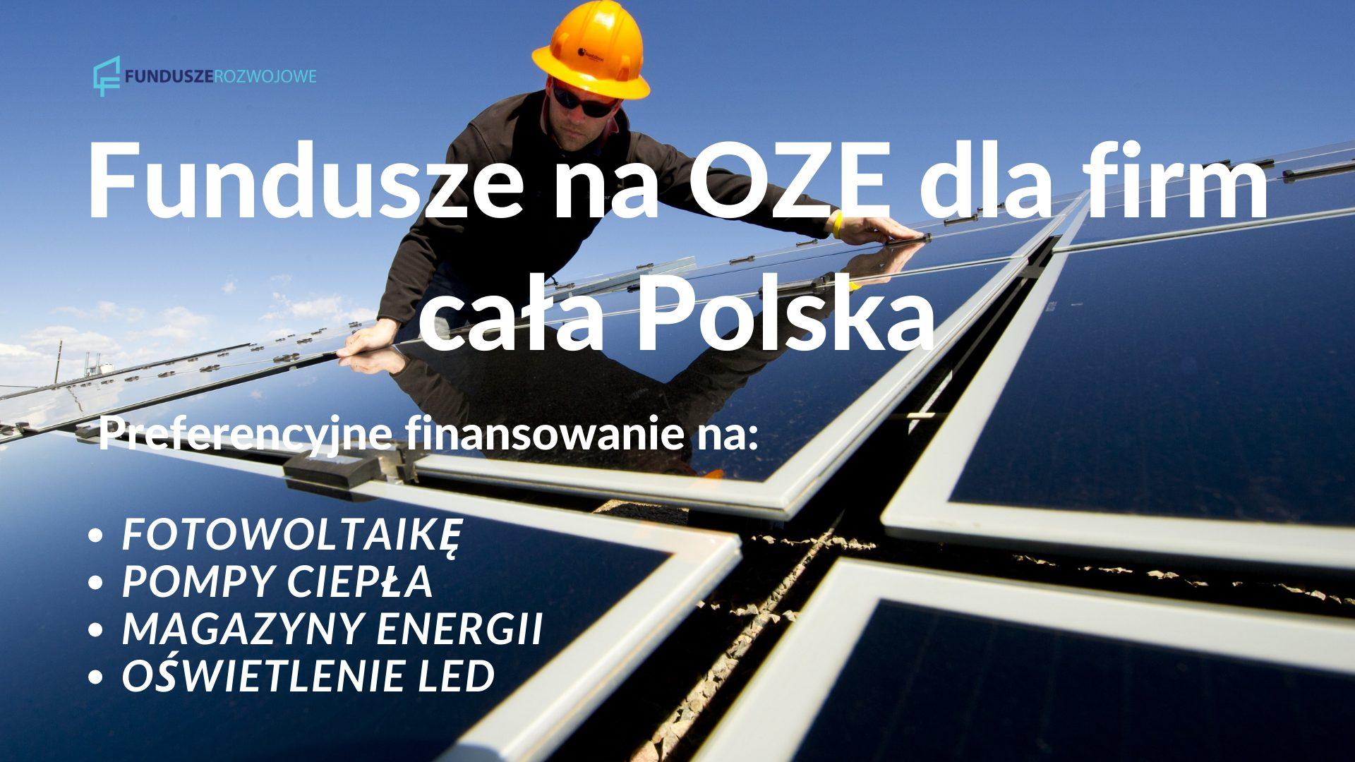 Środki na OZE dla firm